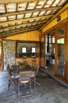 Pergola Ideas For Patio Code: 2699266751 Porch And Terrace, Patio Roof, Extension Veranda, Bamboo House Design, Rest House, Tiny House Plans, Tropical Houses, Outdoor Rooms, My Dream Home