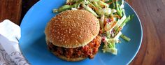 Skinny Sloppy Joes with Tangy Slaw Make these healthified Sloppy Joes from scratch and cut down their simmering time to 10 minutes of completely hands-off pressure cooking - during which you can make coleslaw. A Sloppy Joe is a runny American hamburger sandwich commonly served in public school cafeterias or made at home with a ready-sauce from a