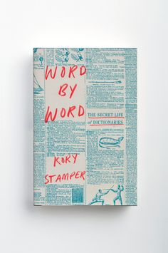 Word by word book cover jacket design handwritten typography dictionary