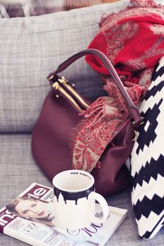 butiksofie: red velvet cake with crushed candy cones and November fashion