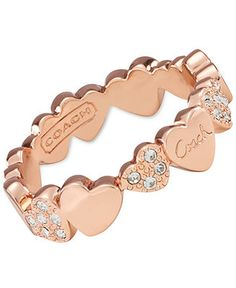 COACH MULTI HEARTS BAND RING - COACH - Handbags & Accessories - Macy's