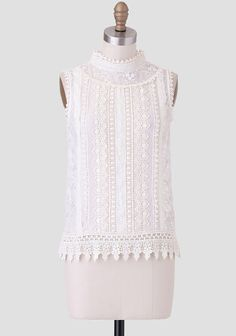 French Chateau Crochet Blouse