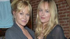 """PHOTO: Actress Melanie Griffith and daughter actress Dakota Johnson attend Danny Masterson And Rock Paper Photo Present """"Icons, Old & New"""" A Fine Art Photography Exhibit at Confederacy, June 28, 2012 in Los Angeles.  Father is Don Johnson."""