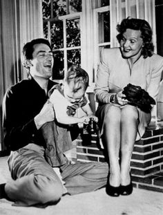 obsessed with jimmy stewart — Gregory Peck with his first wife Greta and...