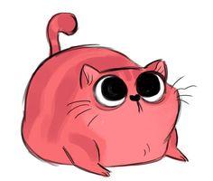 C'est adorable! J'adore un chat à la fraise!