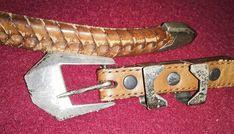 Sterling Silver belt buckle Western leather belt The Rangers 1992 sz Western Belt Buckles, Western Belts, Western Cowboy, Rangers Team, Braided Leather Belt, Silver Belts, Westerns, Sterling Silver, Accessories