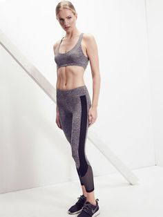 Lanston Porter Curve Panel Legging - Charcoal S Sport Tights, Active Wear, Sporty, Poses, Bra, Stylish, Spring, Clothes, Collection