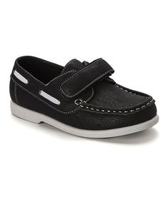 Another great find on #zulily! Black Aaron Boat Shoe #zulilyfinds