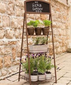 Look what I found on #zulily! Three-Tier Folding Chalkboard Plant Stand #zulilyfinds