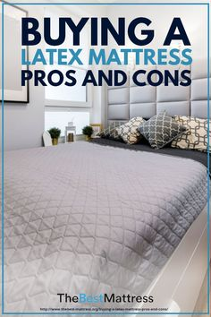 Buying a Latex Mattress: Pros and Cons Best Mattress, Mattress Brands, Latex Mattress, Mattresses, Things That Bounce, Choices, Earth, Bed, People