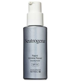 It's easy to forget to slather on SPF when you're not heading out for a day at the beach, so instead reach for a moisturizer that already includes it, like Neutrogena Rapid Wrinkle Repair Moisturizer with SPF 30 ($22, amazon.com). This 2013 Anti-Aging Award winner hydrated skin in GHRI tests and garnered rave reviews from our volunteers for improving skin tone and softening fine lines.  - GoodHousekeeping.com