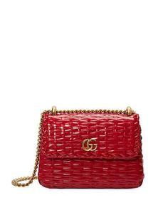 V3WS5 Gucci Linea Cestino Mini Web Straw Shoulder Bag