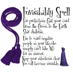 Invisibility Spell - Exercise with caution!