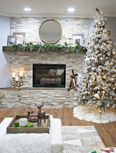 Stacked Stone Fireplaces how to install stacked stone tile on a fireplace wall   thrifty