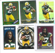 2013 TOPPS CHROME 5 CARD EDDIE LACY LOT + TOPPS STRATA BASE CARD