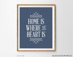 Home Sweet Home print Home Decor print by BlackstarPress on Etsy