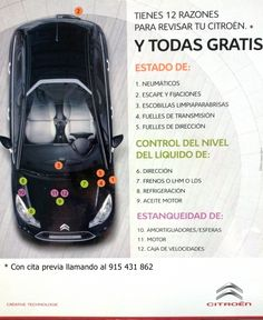12 Razones para revisar tu Citroën y todas gratis