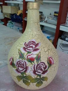 Resultado de imagem para garrafas cristal decoradas