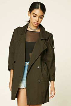 Canvas Trench Jacket