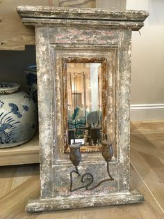 Mirrored Sconce. Distressed finish.