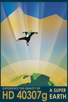 Super Earth - JPL Travel Poster