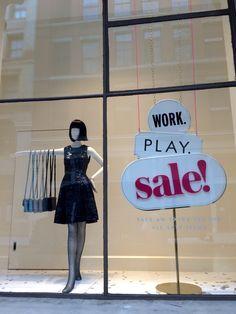 New York Post Xmas sales windows December 2014 #TRC #Retail #VM
