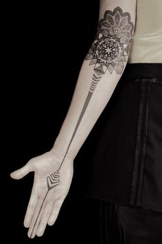 geometric, symmetric #arm #tattoos