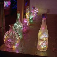 luces de navidad en las botellasss