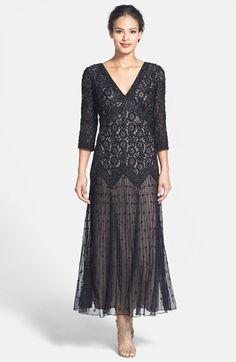 One of my favorite 1920s style dresses. Beaded Mesh Drop Waist Dress - Black $189.00 AT vintagedancer.com