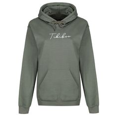 Loungewear with strong principles: work hard, play hard, and look awesome while doing it!  The Khaki Essence Hoodie features white script logo detail, front pocket and toggles on the hood, with a warm fleece-lined inner,   This hooded sweatshirt features an oversized loose fit. Designed with comfort and style, this hoodie will keep you warm to get you to and from those winter workouts! Hooded Sweatshirts, Hoodies, Script Logo, Play Hard, Loungewear, Loose Fit, Work Hard, Workouts, Strong
