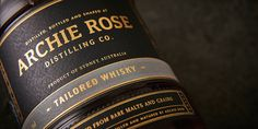 Archie Rose Tailored Spirits — The Dieline - Branding & Packaging