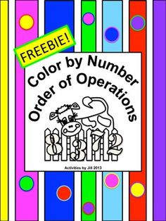 Color by number lessons can be a fun change of pace for students and may be used for practice, as a review, as a math center, or as an assignment choice for differentiation of lessons.  Notice: All calculations in this puzzle involve positive numbers. If you are interested in order of operations problems with negatives, please check my store for an activity very similar to this one!