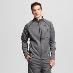 Lotto Men's Textured Fleece Hoodie Grey XL, Size: Large
