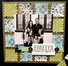 Love the use of fabric on this page (Stampin' Up! Comfort Cafe Fabric)