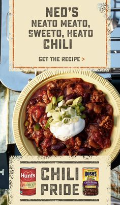 Great ingredients make great chilli, and great chilli makes for a great game day - because when you fuel with flavor, you fuel the fire on the field. Let's Gooooooooooo. Tap the Pin to get the recipe. Chili Recipes, Slow Cooker Recipes, Mexican Food Recipes, Crockpot Recipes, Cooking Recipes, Healthy Recipes, Soup Recipes, Great Recipes, Dinner Recipes