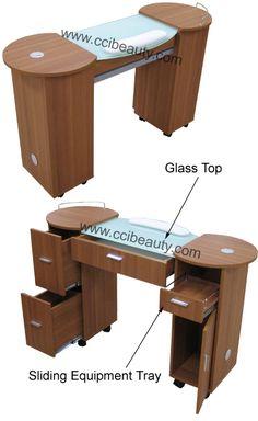 Manicure table Nail Salon Furniture, Spa Furniture, Manicure Station, Home Nail Salon, Girl Cave, Nail Room, Beauty Lounge, Salon Ideas, Pedicures