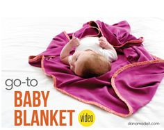 MADE Everyday VIDEO: my easy, favorite, Go-To Baby Blanket | MADE