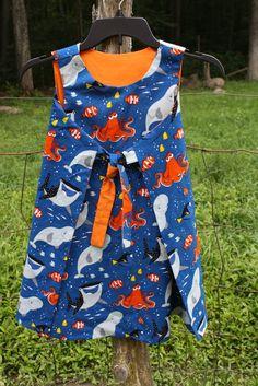 "Girls size 6 ""Finding Dory"" Reversible dress"