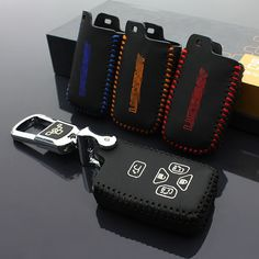 Brand New High Quality leather Smart Remote key Case Cover Holder For Toyota Previa