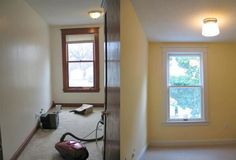 painting oak trim white before and after - Google Search