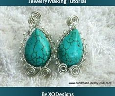 Oval Shaped Turquoise Earrings Jewelry Making Tutorial