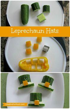 Leprechaun Hats: A Simple Healthy St. Patrick's Day Snack! creativefunfood.com