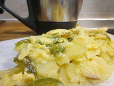 Patatas con huevos rotos Thermomix