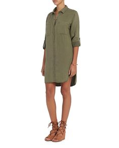 1372200e80 Rails EXCLUSIVE Karlie Army Shirt Dress  The collared shirt dress with snap  button placket