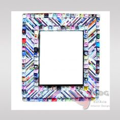 "Spiegel mit Rahmen ""Recycling Papier"""