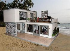 Greystone Villa - Nana's Dollhouses and Miniatures Container Home Designs, Container House Plans, Style At Home, Casas Containers, Barbie Doll House, Modern Dollhouse, Modern House Plans, Miniature Houses, Fairy Houses
