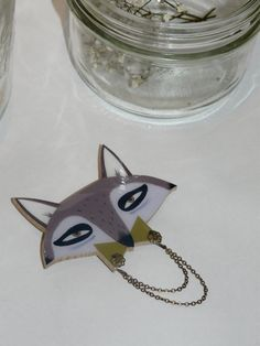 racoon brooch