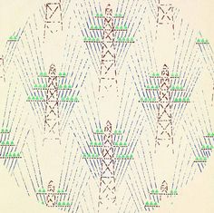 Detail of textile design with electrical towers, 1930. Trekhgornaia Factory. Gouache on paper | The Charnel-House