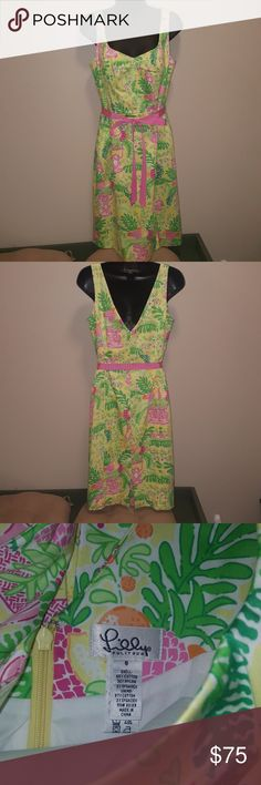New without tags size 6 Lilly Pulitzer Dess Knee length bright jungle patten Lilly dress. New without tags. Lilly Pulitzer Dresses Midi