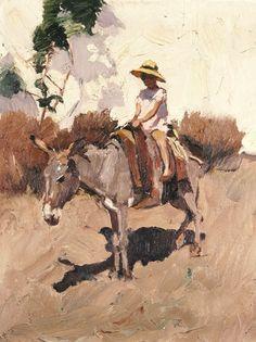 Nikolaos Lytras - The Donkey art Greek Paintings, Animal Paintings, The Donkey, Greek Art, Art Database, Classical Art, Illustrations, Art World, Canvas Art